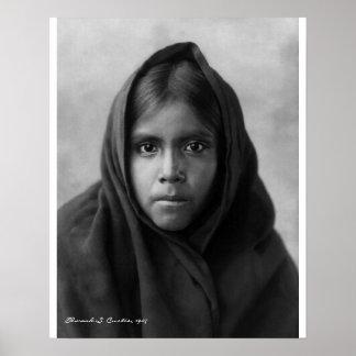 Qahatika Girl by Edward S. Curtis, 1907 Poster