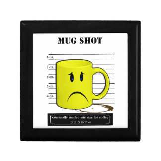 QAMug Shot Coffee Mug Cup Cartoon Meme Trinket Boxes