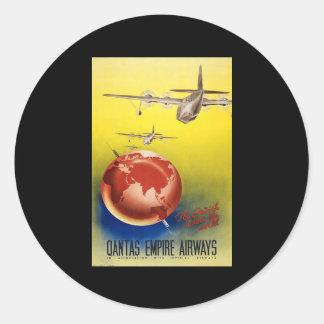 Qantas Empire Airways Classic Round Sticker