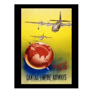 Qantas Empire Airways Postcard