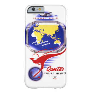 Qantas Empire Airways Vintage Poster Restored Barely There iPhone 6 Case