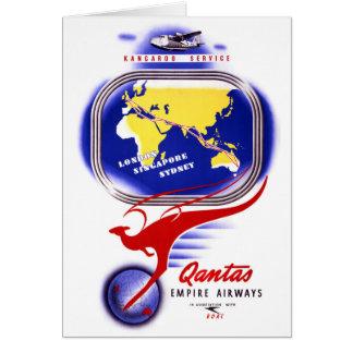 Qantas Empire Airways Vintage Poster Restored Card