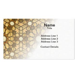 Qarawiyyin Mosque Geometric Pattern 1 Wood Business Card