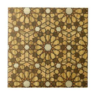 Qarawiyyin Mosque Geometric Pattern 1 Wood Ceramic Tile