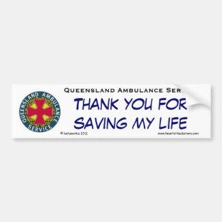 QAS - Gracias por ahorrar mi vida Pegatina Para Auto