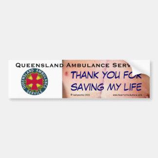QAS - Thank you for saving my life Car Bumper Sticker