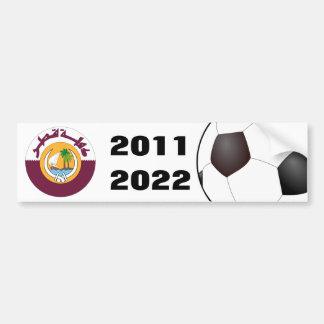 Qatar 2011 & 2022 Soccer Car Bumper Sticker
