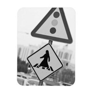 Qatar, Ad Dawhah, Doha. Arabian Pedestrian 2 Magnet