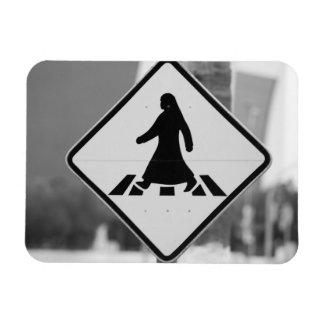 Qatar, Ad Dawhah, Doha. Arabian Pedestrian 3 Magnet