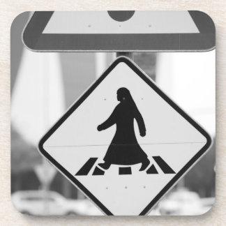 Qatar, Ad Dawhah, Doha. Arabian Pedestrian Drink Coaster
