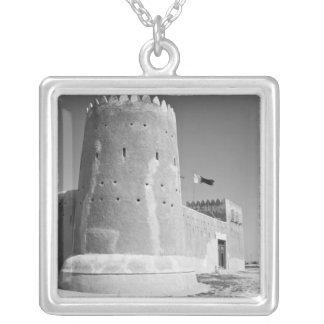 Qatar, Al Zubarah. Al-Zubarah Fort (b.1938) now 2 Silver Plated Necklace