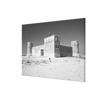 Qatar, Al Zubarah. Fuerte del al-Zubara (b.1938) a Lona Envuelta Para Galerias