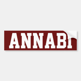 "Qatar ""Annabi"" Car Bumper Sticker"