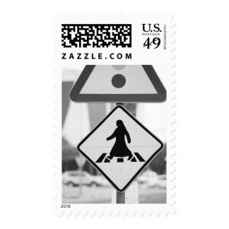 Qatar, anuncio Dawhah, Doha. Peatón árabe Sellos Postales