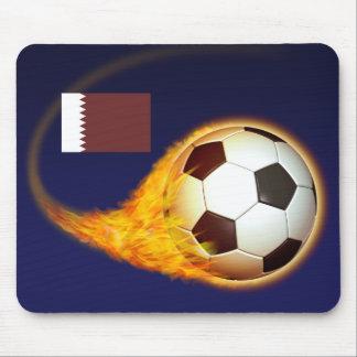 Qatar Blazing Soccer Mouse Pad