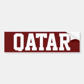 Qatar Car Bumper Sticker