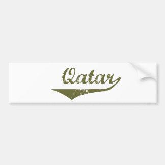 Qatar Etiqueta De Parachoque