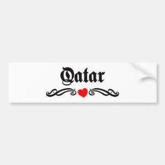 Qatar Pegatina De Parachoque