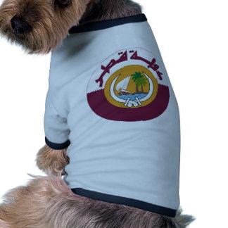Qatar Coat of Arms Pet T-shirt