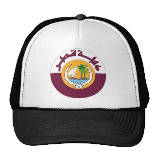 Qatar Coat Of Arms Trucker Hats