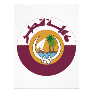 Qatar Coat of Arms Letterhead Template