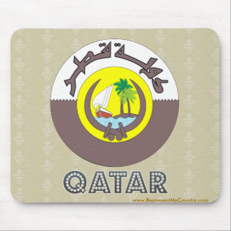 Qatar Coat of Arms Mouse Pad