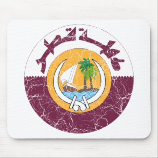 Qatar Coat Of Arms Mouse Pads