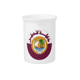 Qatar Coat of Arms Beverage Pitcher