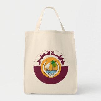 qatar coat of arms tote bag