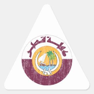 Qatar Coat Of Arms Triangle Sticker