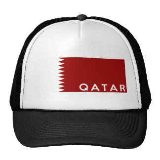 qatar country flag text name hats