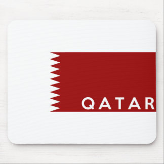 qatar country flag text name mouse pads
