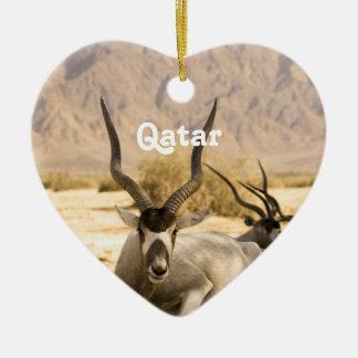 Qatar Adorno De Cerámica En Forma De Corazón