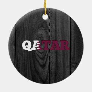 Qatar Adorno Redondo De Cerámica