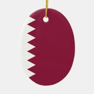 Qatar Adorno Ovalado De Cerámica