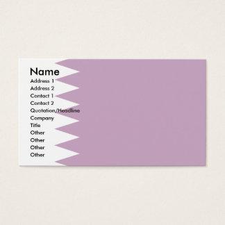 Qatar Flag Business Card