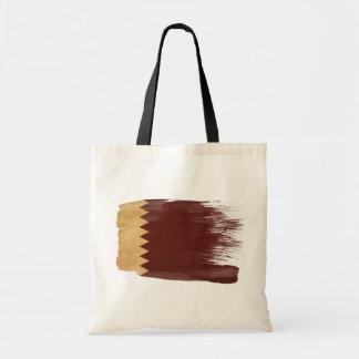 Qatar Flag Canvas Bags