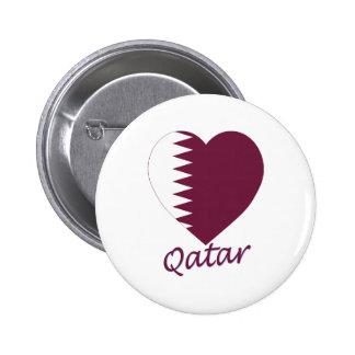 Qatar Flag Heart Buttons