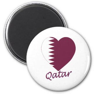 Qatar Flag Heart Refrigerator Magnet