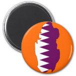 Qatar flag map fridge magnets