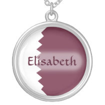 Qatar Flag   Name Necklace