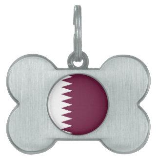 Qatar Flag Pet Name Tag
