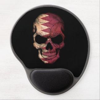 Qatar Flag Skull on Black Gel Mouse Mats