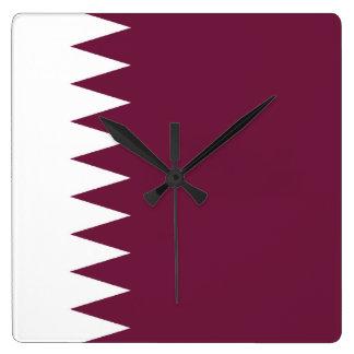 Qatar Flag Wallclock