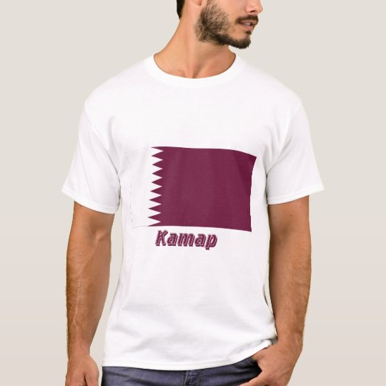 Qatar Flag with name in Russian T-Shirt