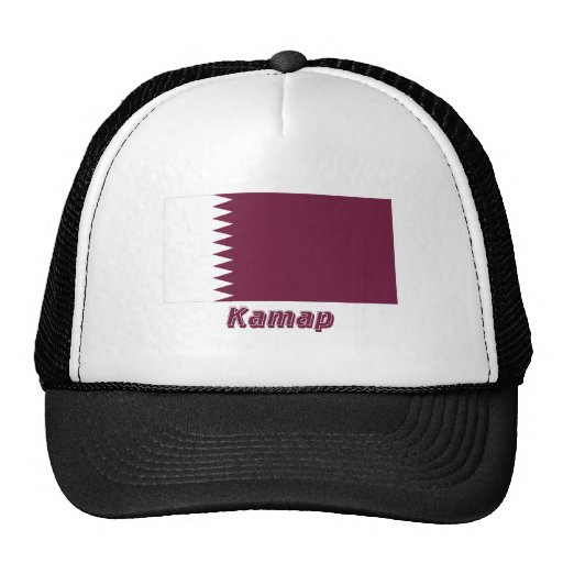 Qatar Flag with name in Russian Trucker Hat