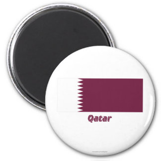 Qatar Flag with Name Magnet