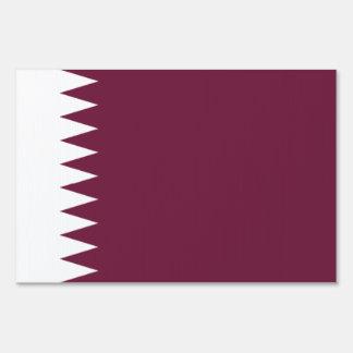 Qatar Flag Yard Sign