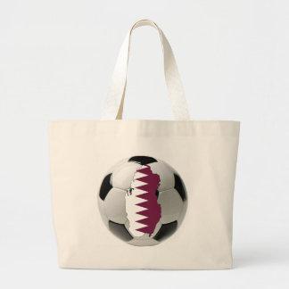 Qatar football soccer canvas bags