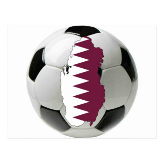 Qatar football soccer postcard